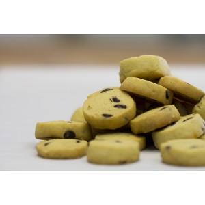 Κουλουράκια βουτύρου, με κομμάτια σοκολάτας